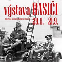Výstava Hasiči v OC Fontána