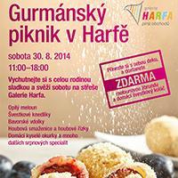 Letní Gurmánský piknik v Galerii Harfa