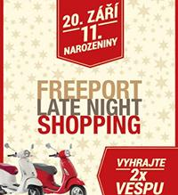 Sobotní Late Night Shopping ve Freeportu