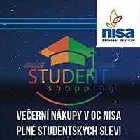 Student shopping v OC Nisa Liberec