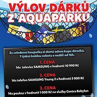 Výlov dárků z Aquaparku v OC Babylon