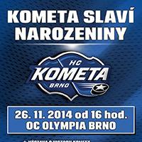 HC Kometa Brno se v OC Olympia Brno setká s fanoušky