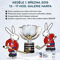 Oficiální ROAD SHOW k MS IIHF v ledním hokeji dorazí i do Galerie Harfa