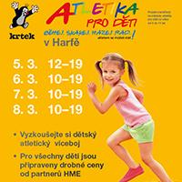 Březnová atletika pro děti v Galerii Harfa