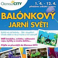 Balónkový jarní svět pohltí OC Olomouc City