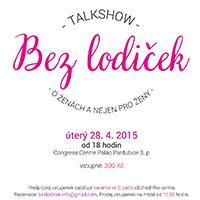 """Talk Show """"Bez lodiček"""" v Kongresovém centru Paláce Pardubice"""