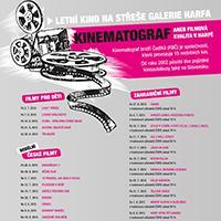 KINEMATOGRAF na střeše OC Galerie Harfa