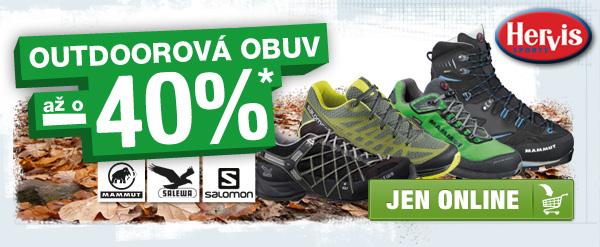 OUTDOOROVÁ obuv až o - 40 %