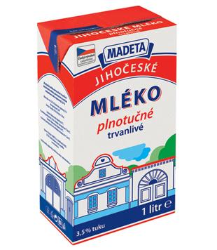 Jihočeské mléko trvanlivé plnotučné 3,5 %