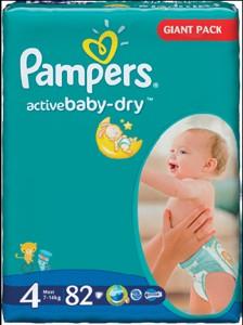 Pampers Active Baby dětské pleny Tesco