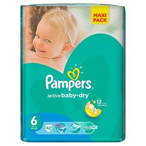 Pampers Active Baby-Dry Dětské jednorázové plenky 6 extra large 42 ks Terno