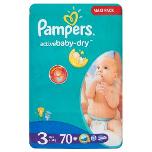 Pampers Active Baby Pleny 3 Midi 70 ks Tesco