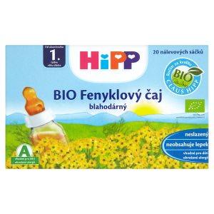 HiPP Bio čaj 20 sáčků, vybrané druhy