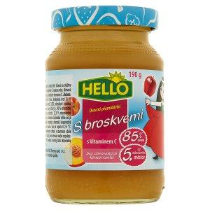 Hello Ovocná přesnídávka s broskvemi a vitaminem C 190g Penny Market