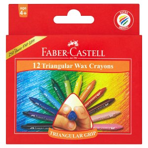 Faber-Castell Voskové pastelky 12 ks Tesco
