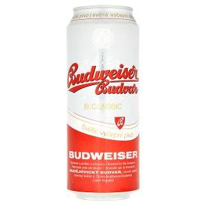 Budweiser Budvar B:Classsic světlé výčepní pivo 0,5l plech