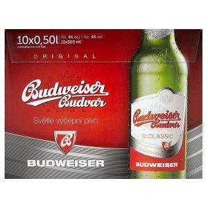 Budweiser Budvar B:Classic světlé výčepní pivo 10 x 0,5l