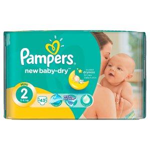Pampers New Baby-Dry Dětské jednorázové pleny 2 mini 43 ks Rossmann