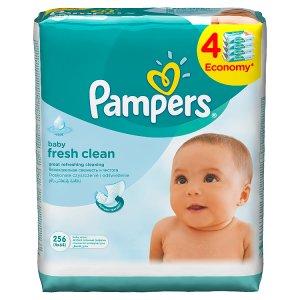 Pampers Vlhčené Ubrousky Baby Fresh Clean 4 x 64 ks Rossmann