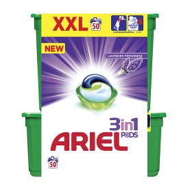 Ariel gelové kapsle 50 dávek, vybrané druhy