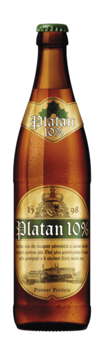 Platan 10 světlé výčepní pivo 0,5 l