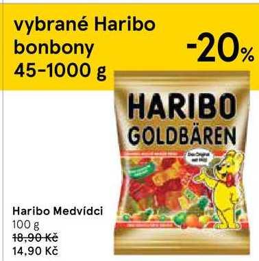 Haribo bonbony 100g, vybrané druhy