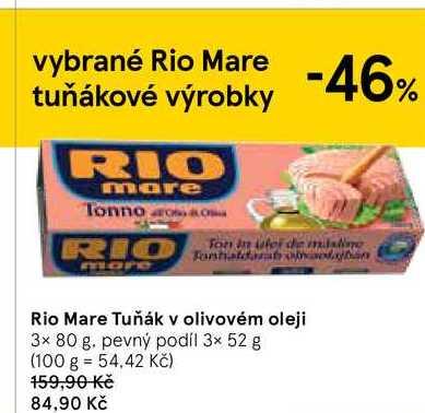 Rio Mare Tuňák 3 x 80g, vybrané druhy