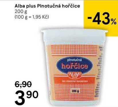 Alba Plus hořčice 200g,