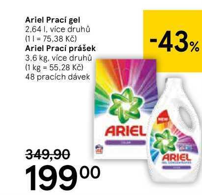 Ariel prací prášek, 3,6 kg
