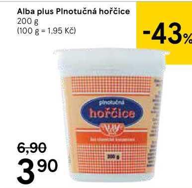 Alba Plus hořčice 200g, vybrané druhy