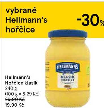 Hellmann's Hořčice klasik, 240 g
