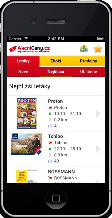 Mobilní verze AkcniCeny.cz